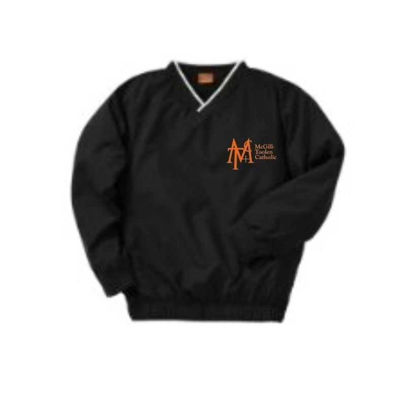 Men's Golf Pullover Windbreaker (Black) - Promo Designs
