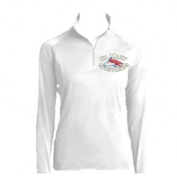 Ladies Sport-Tek Sport-Wick Stretch 1/2-Zip Pullover (White)