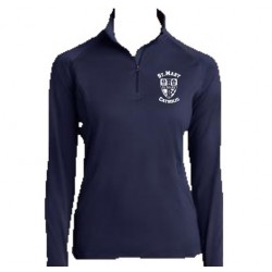 Ladies Sport-Tek Sport-Wick Stretch 1/2-Zip Pullover (Blue)