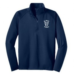 Men's Sport-Tek Sport-Wick Stretch 1/2-Zip Pullover (Blue)