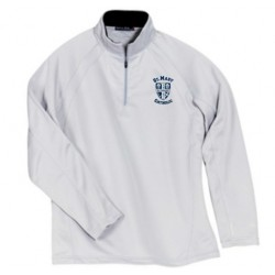 Men's Sport-Tek Sport-Wick Stretch 1/2-Zip Pullover (White)