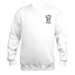 Men's NuBlend® 50/50 Fleece Crew (White)
